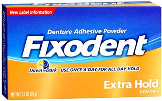 Fixodent Extra Hold Denture Adhesive Powder