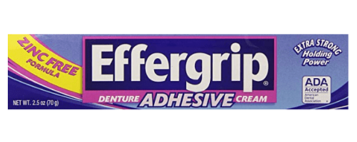 zinc in denture adhesive