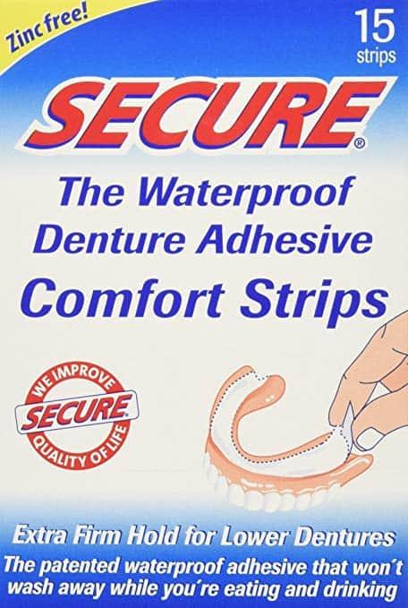 SECURE Denture Adhesive Comfort Strips