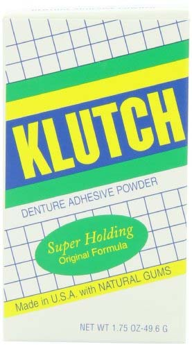 Klutch Denture Adhesive Powder