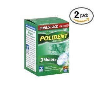 Polident Antibacterial 3 Minute Denture Cleanser