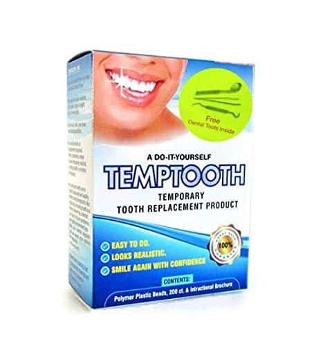 Temporary Tooth Replacement Kit with Dental Tools