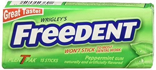 Wrigley's Freedent Peppermint Gum